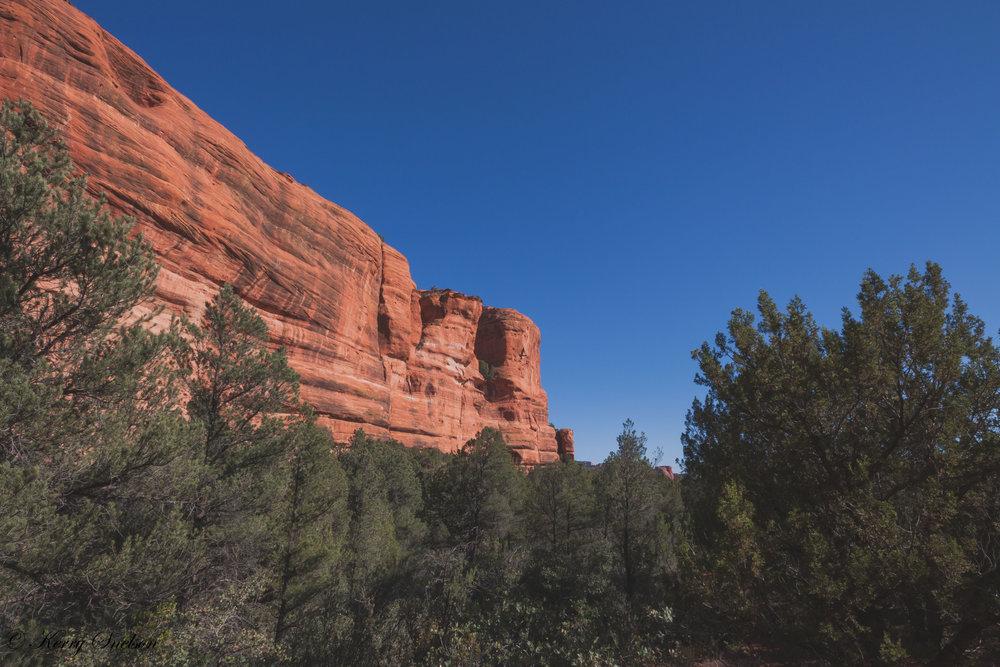 Red Rock Cliff Landscape