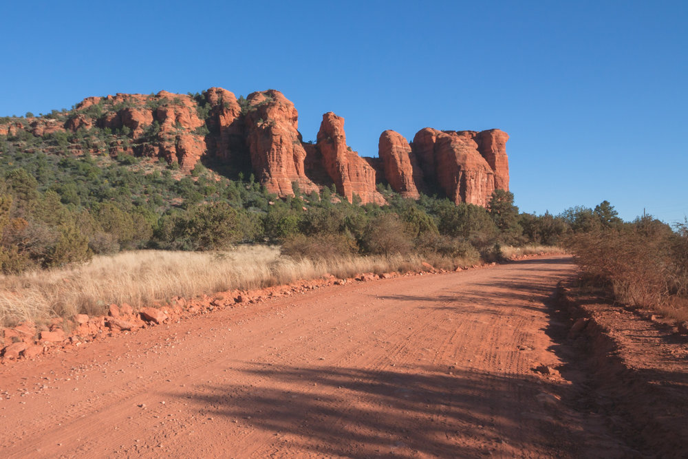 Road in Sedona's Red Desert.