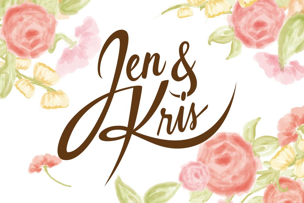 script lettering wedding watercolor