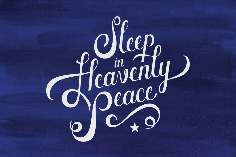 script lettering holiday blue