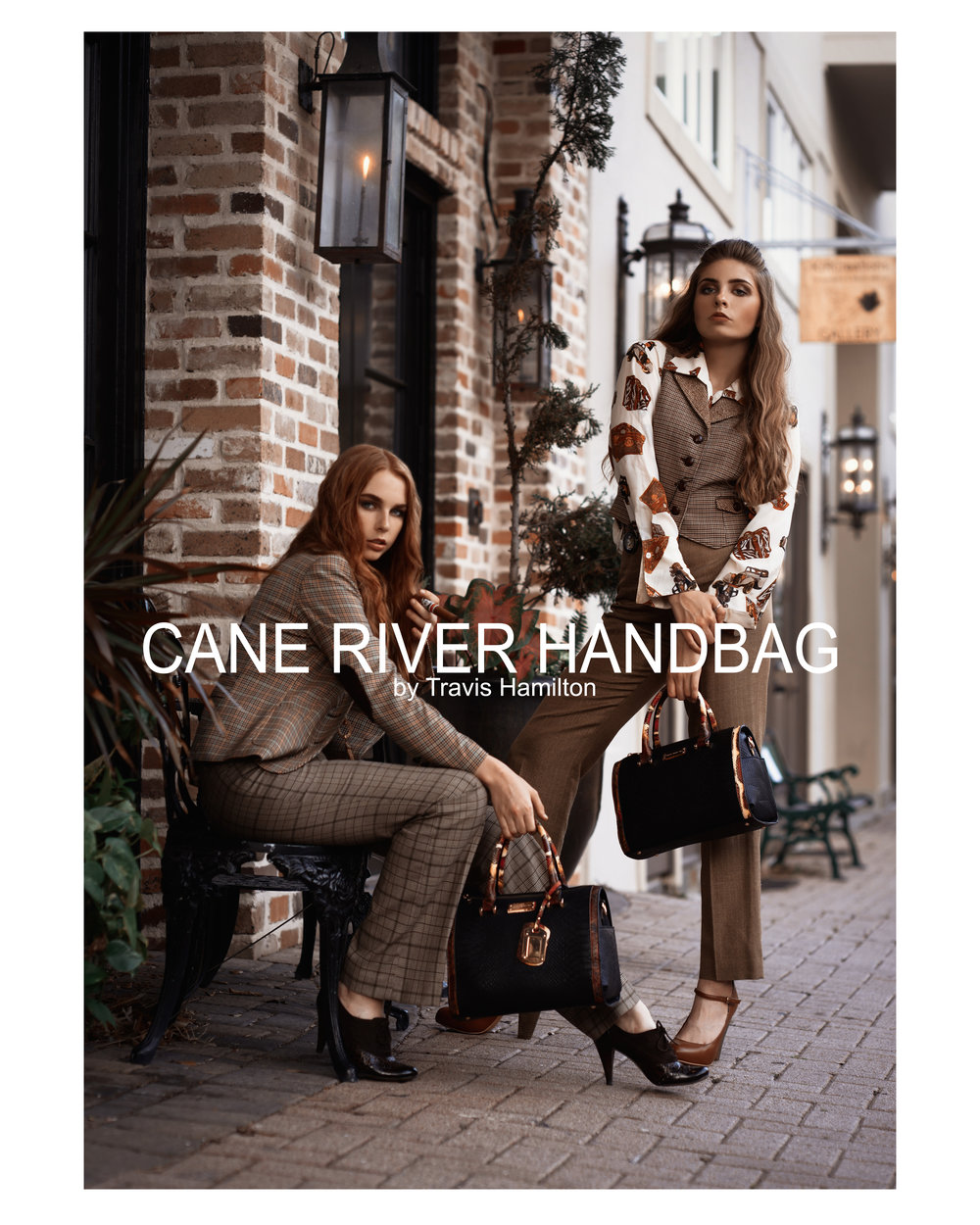 Anthem in Art for Travis Hamilton Cane River Handbag fashion editorial photography