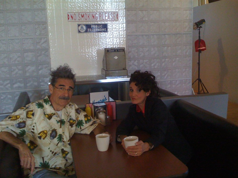 "Jackie as ""Elaine"" and me trying to look like ""Kramer"" (although I look more like a Scary one of ""PUTIN's People"")  in a shot we took for a Children's Hospital Calendar a few years back."