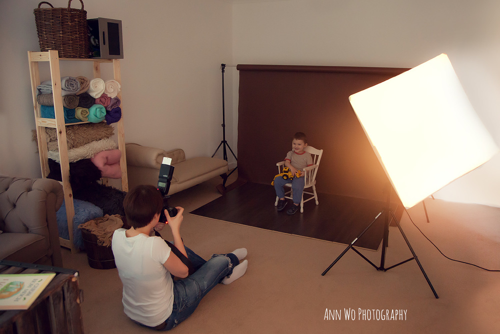 Photography Studio Lighting Set Up For Mini Sessions With