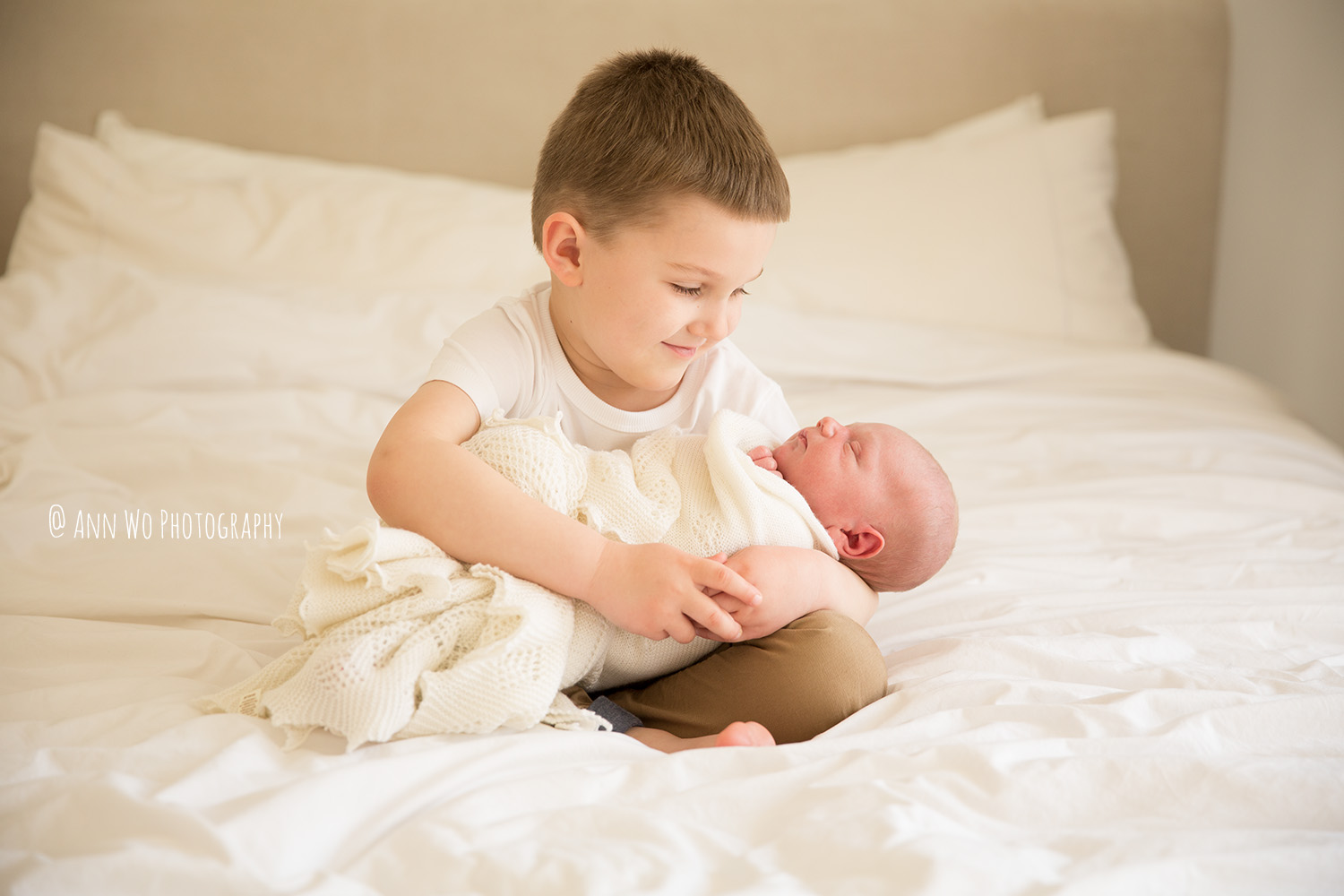Newborn baby and big brother lifestyle family photography ann wo england