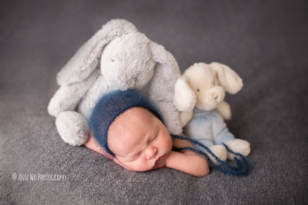 newborn baby and soft toys ann wo photography london