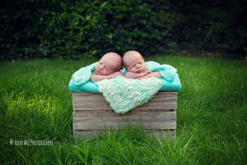 Newborn photography in London by Ann Wo twins