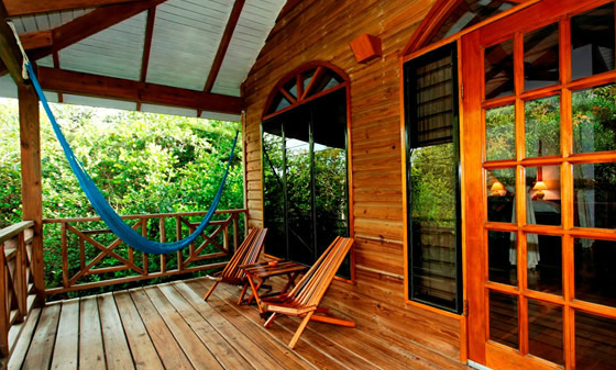 The porch of the treehouse