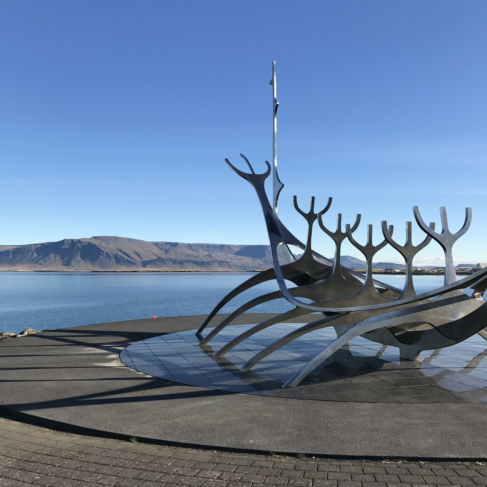 Sólvar sculpture, along the waterfront in Reykjavik