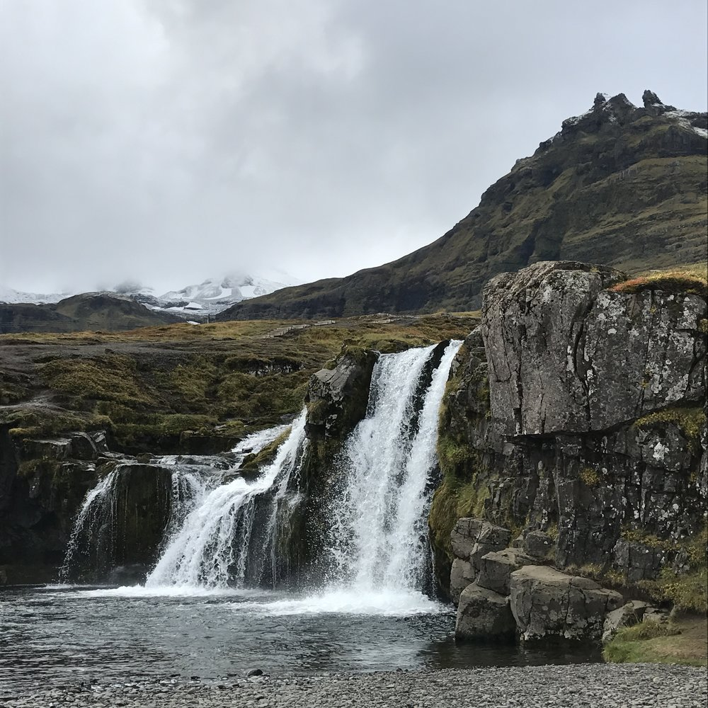 The waterfall at Kirkjufell
