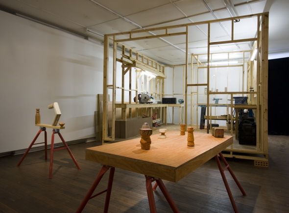 Shed, 2008 Mixed media Dimensions variable Installation view, Chalk Horse, Sydney Photo: Silversalt
