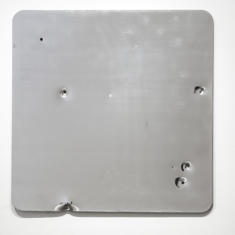 Sign (Landscape/Constellation) #3, 2013 Decommissioned 5052 Aluminium road sign 76 × 76 cm Photo: Jon Malis