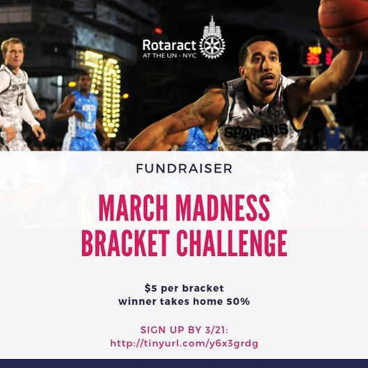 Think you know who's got what it takes to go all the way? Join our #MarchMadness bracket pool for the NCAA Men's Basketball Championship. ... Each bracket is $5.  The best bracket will take home half the pot. The other half will go toward funding #RCUN service projects. ... Sign up by Thursday 3/21 @ www.tinyurl.com/y6x3grdg or using the link in bio ☝️