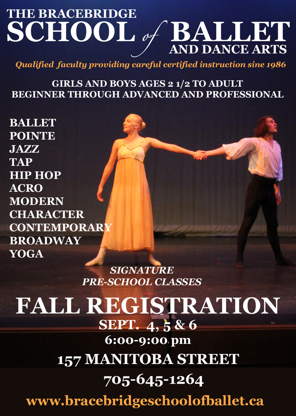 Pre-Register for fall classes now! Click here to contact us!
