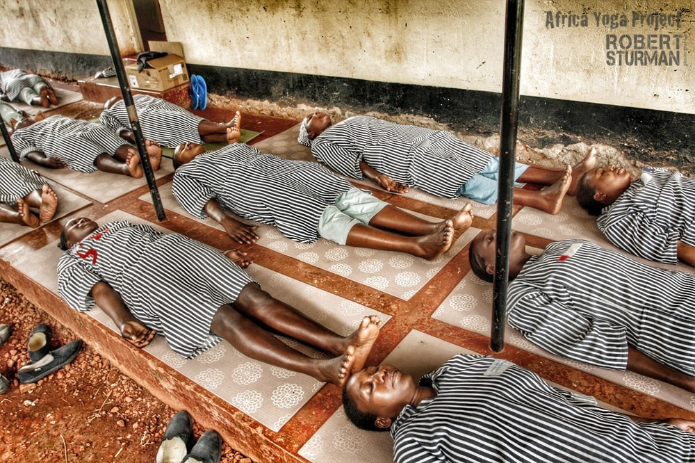 18) Langata Women's Prison: Nairobi Kenya. Many of the inmates are HIV positive and shared that yoga has become a rare source of happiness in their daily lives.