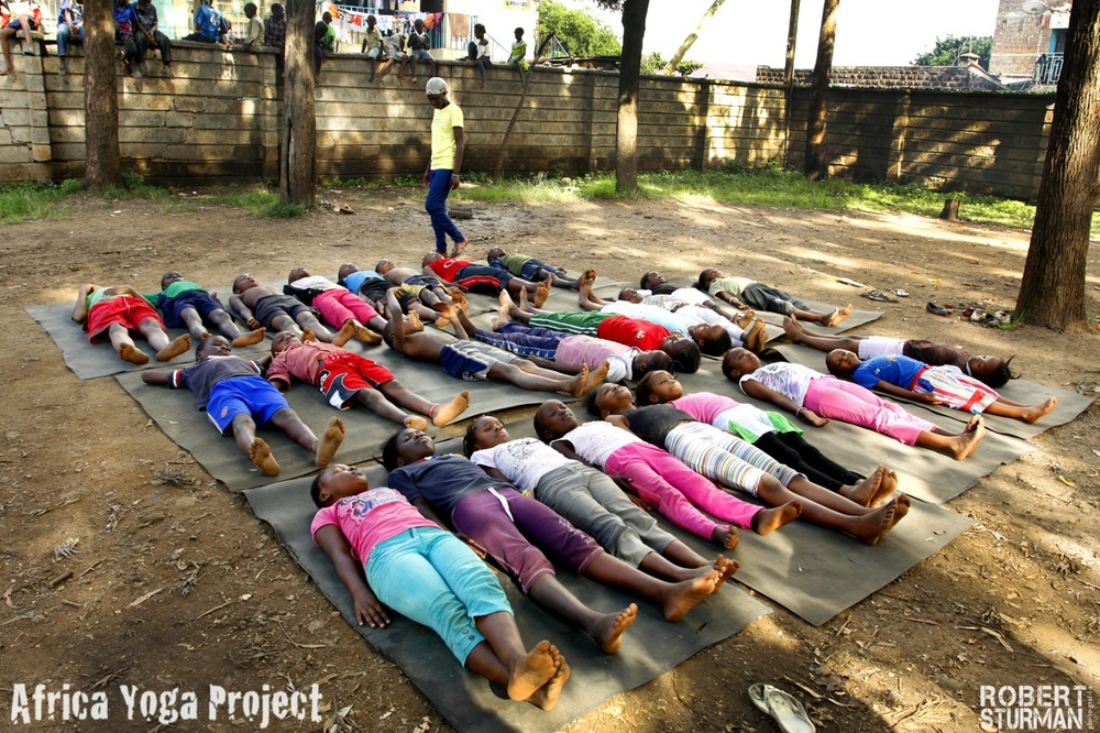 20) Final Resting Pose (Savasana): Ghetto Green Children's Home - Nairobi, Kenya