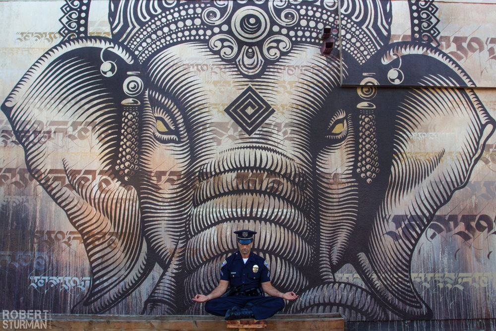 80) Officer Milo ~ Venice, California: Mural by CRYPTIK