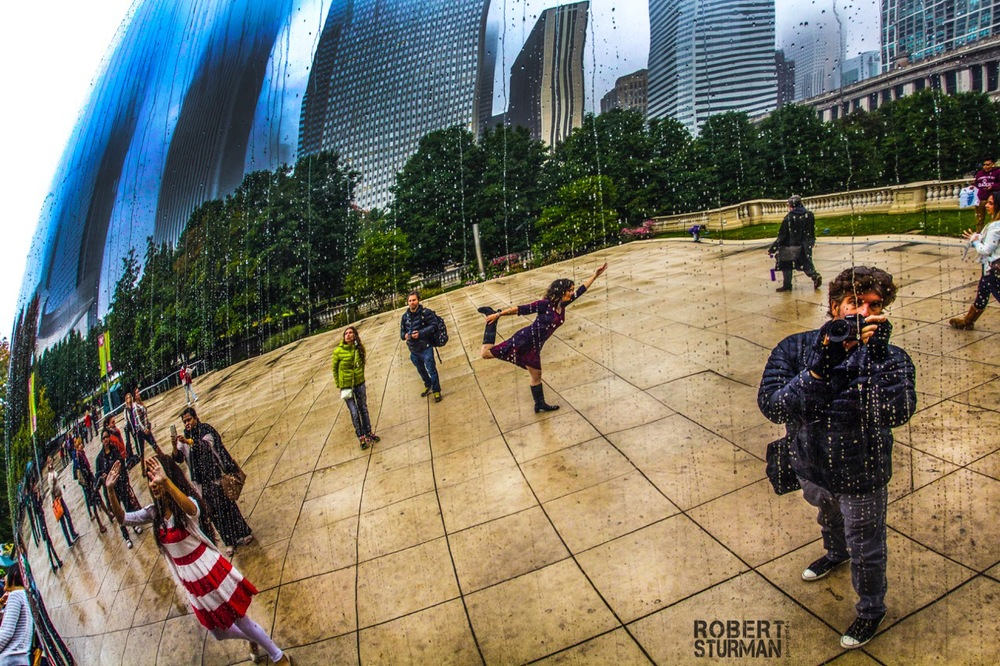 82) Self-Portrait at the Iconic 'Bean' in Chicago, Illinois