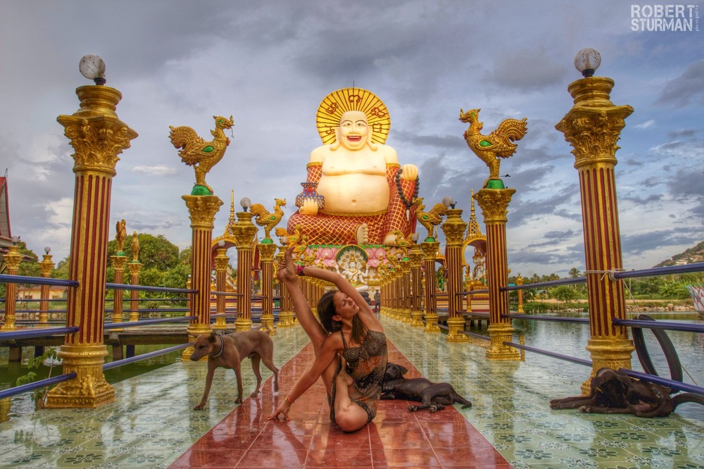 74) Ashika Gogna ~ The Smiling Buddha, Temple of the Dogs: Kho Samui, Thailand