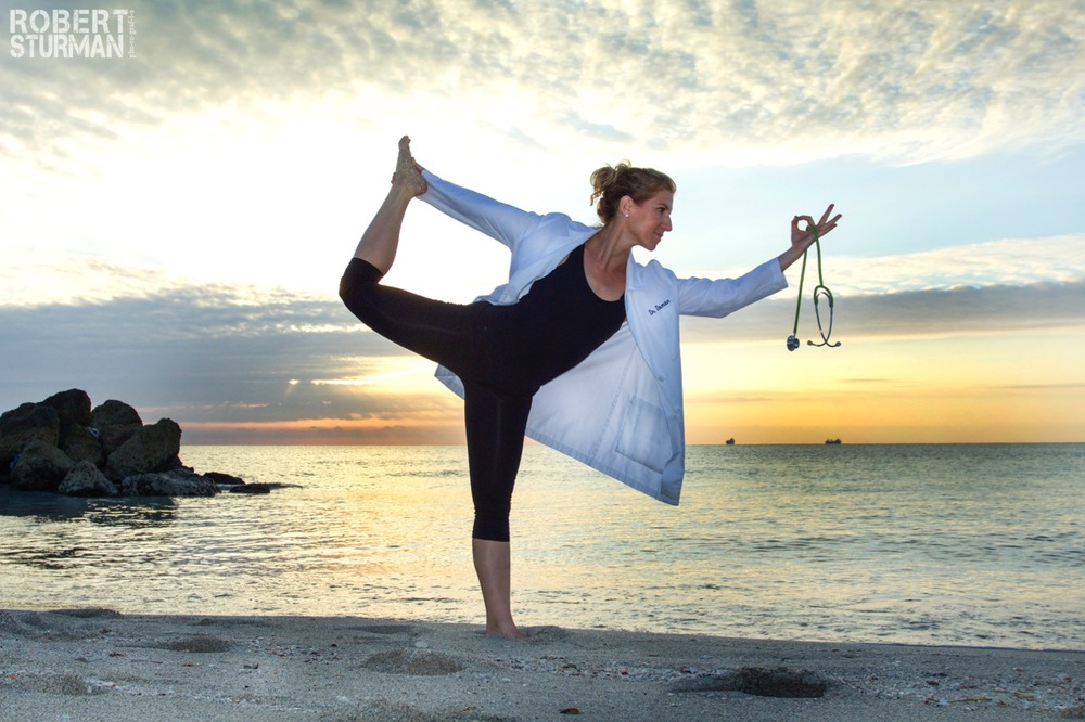 18)  Dr. Sandra Doman: South Beach, Miami We create the 'New Normal' each day, each moment. I love doctors who prescribe yoga to their patients. I met up with Yogi/Doctor, Sandra Doman in Miami a couple weeks ago and definitely saw the new normal in full fledged AwesomeAsanaAction. Send this to your doctor. Tell her/him to take 5 yoga classes, prescribe 5 classes to 5 patients and call you in a week.