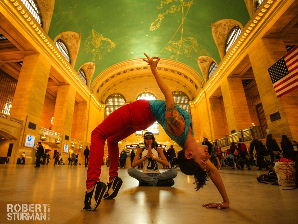 37) Kelly Kamm and Missy:  Grand Central Station, New York