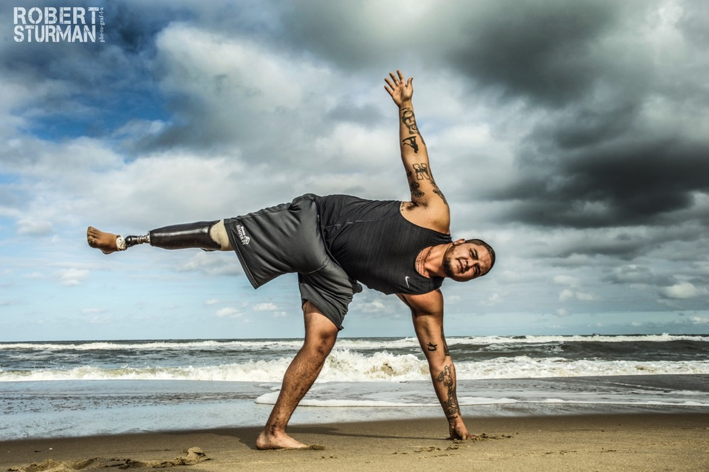 89)   American War Veteran, Alex Nguyen: Virginia Beach, Virginia He served our country and he got blown up in Iraq... May yoga help this good man become whole again. This, he deserves.