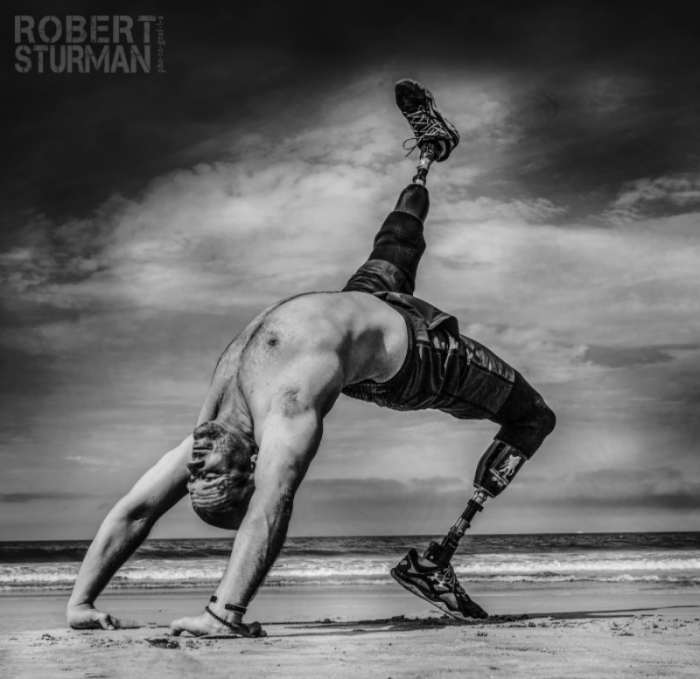63)  Staff Sargeant Dan Nevins — U.S. Army Operation Iraqi Freedon ll. Veteran turned yoga teacher: Pictured in Coronado, California