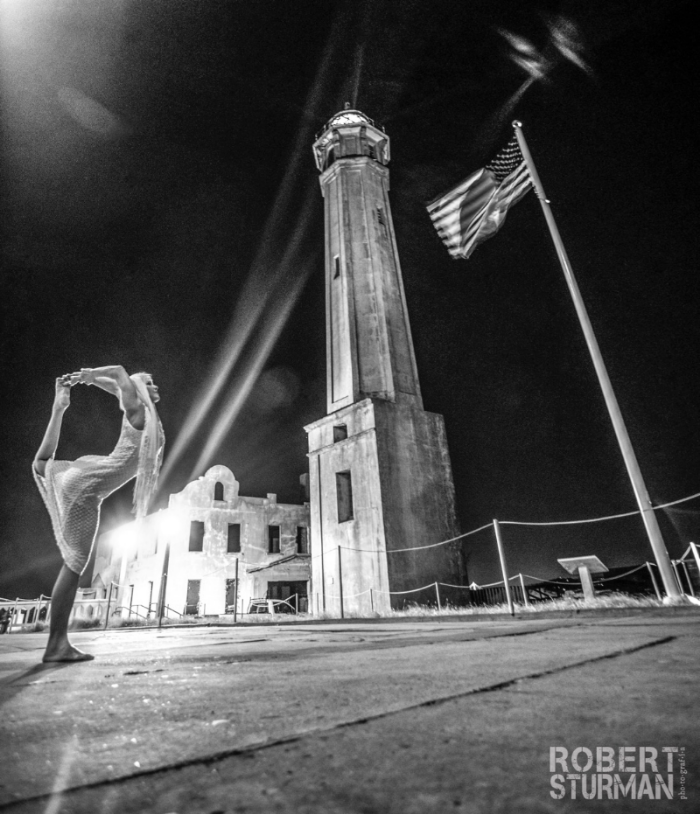32)  The Night Yoga Took Over Alcatraz —  Stacy Thornton: Alcatraz Federal Prison, San Francisco Bay