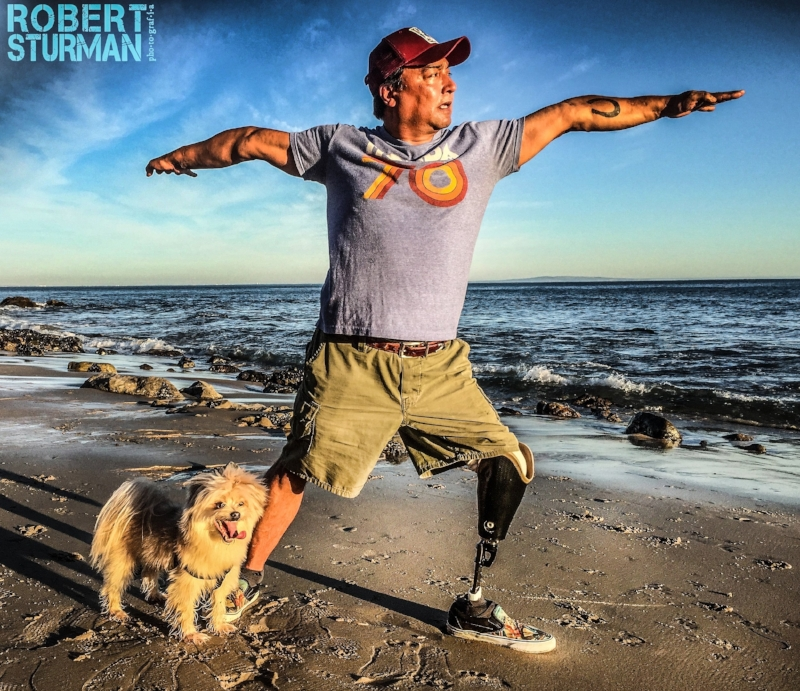 12) Tommy Valencia and His Pup Cisco: Malibu, California