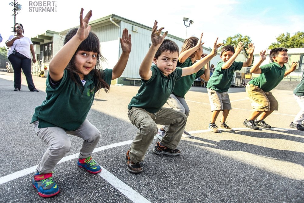 51) Boyle Heights ~ Los Angeles, California - with Uprising Yoga at Extera Public Elementary School.