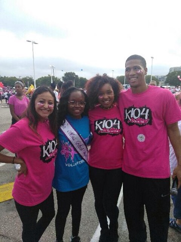 Miss Black West Dallas Coed Corlisa Hockless participating in the Susan G. Komen Race for the Cure in Dallas, TX.