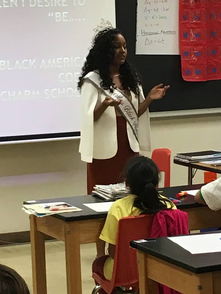 Miss Black America Coed Roneshia Ray presenting a self-esteem workshop at the We Are Girls Conference.