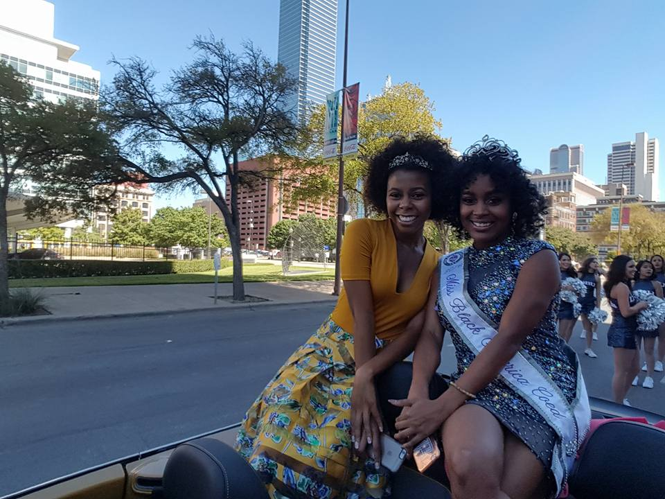 Miss Black America Coed Roneshia Ray was joined by Miss Black Texas Coed Chelsea McGinnis in the State Fair of Texas Opening Day Parade.
