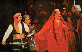 "A scene from the opera ""Kur- ughli"""