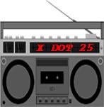 X DOT 25 Music online Radio Button (Circa 1993)