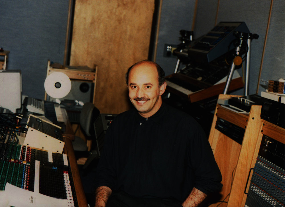 "Max at Paradise Studios in Sacramento. The first Studio ever booked by X DOT 25. Recording and mixing of ""Arghavan"" by ""Zoobeen Banafsh"" Circa 1989"