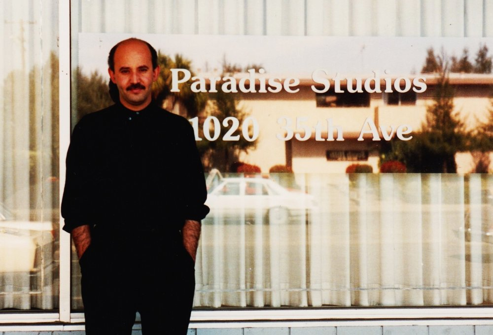 "Max at Paradise Studios in Sacramento. The first Studio ever booked by X DOT 25. Recording and mixing of ""Arghavan"" by ""Zoobeen Banafsh"" (Circa 1989)"