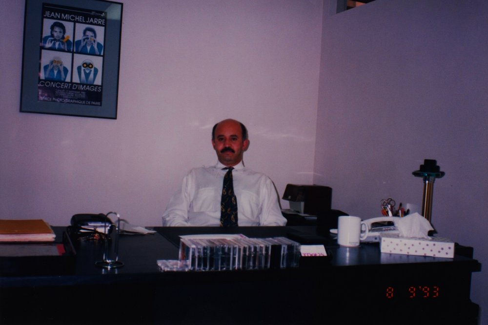 Max at X DOT 25 Music Headquarters (1240 Powel Street, Emeryville, CA) - (Crca 1993)