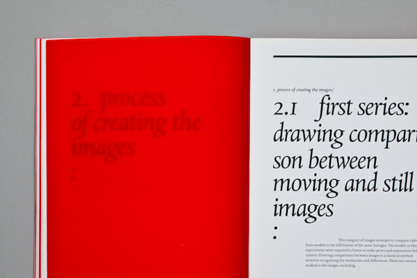 Moving/still image book design