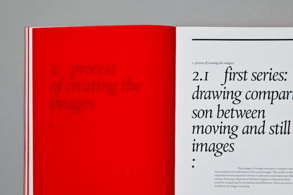 Moving/stillimage book design