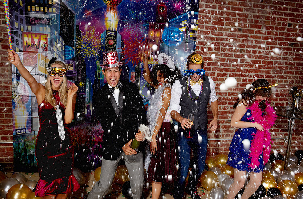 My camera and I were drenched in champagne during the Party City New Years shoot. Its a tough job, but someone has to do it.