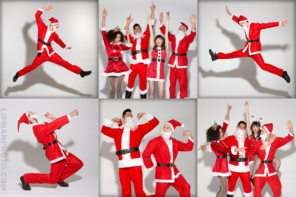 SantaCon is happening now in San Francisco!  Santa suits photographed for Party City.