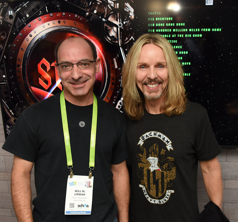 "With Tommy Shaw of Styx, for ""Playback"", a private demo of the new album."
