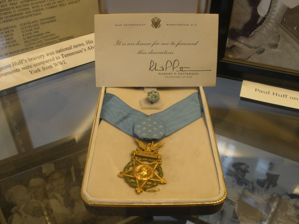Medal of Honor awarded to Staff Sgt. Paul Huff during World War II.