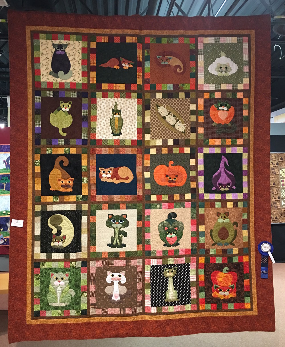 1st Place Applique Hand & Ruth Hale Viewer's Choice Winner: Veggie Cats entered by Dawn Ward