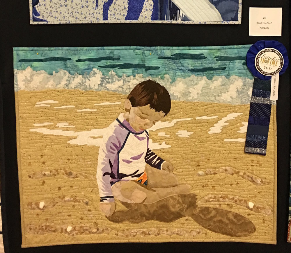 1st Place Art Quilts: Shell We Play? entered by Monica Jenkins
