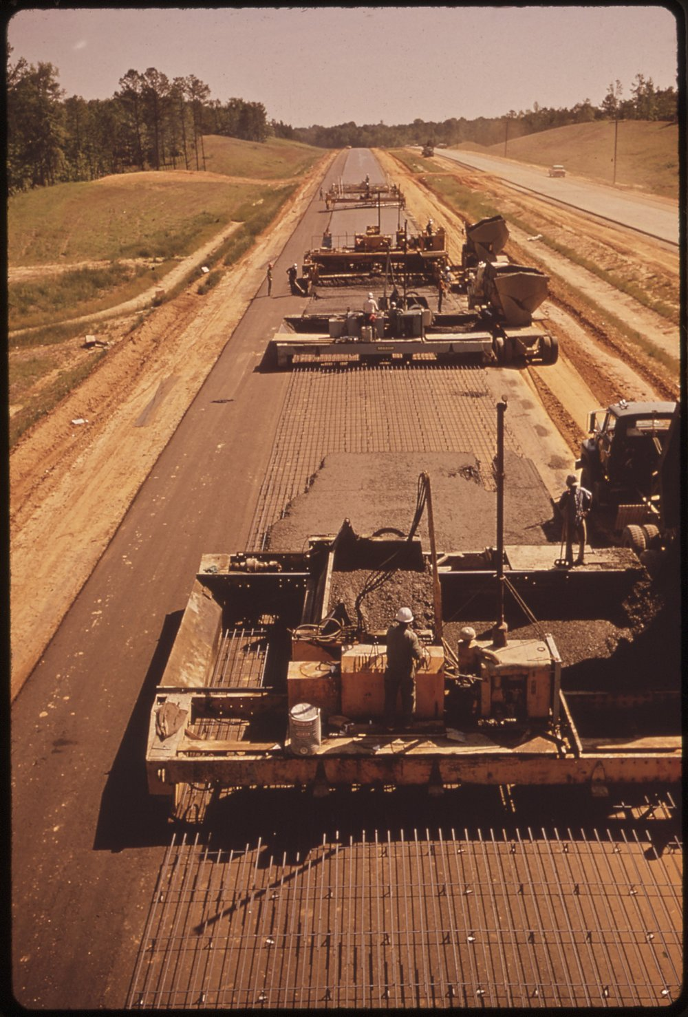 Construction on I-55 in 1972