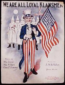 Sheet music for We Are All Loyal Klansmen.