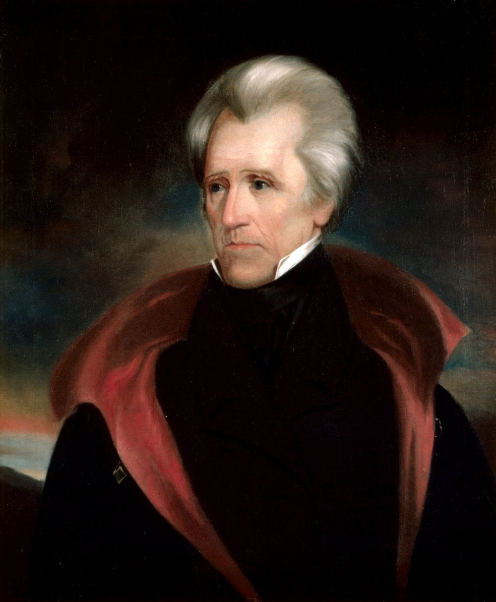Andrew Jackson, the first Democratic president.