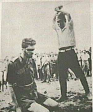 Photo of a decapitation of a POW.
