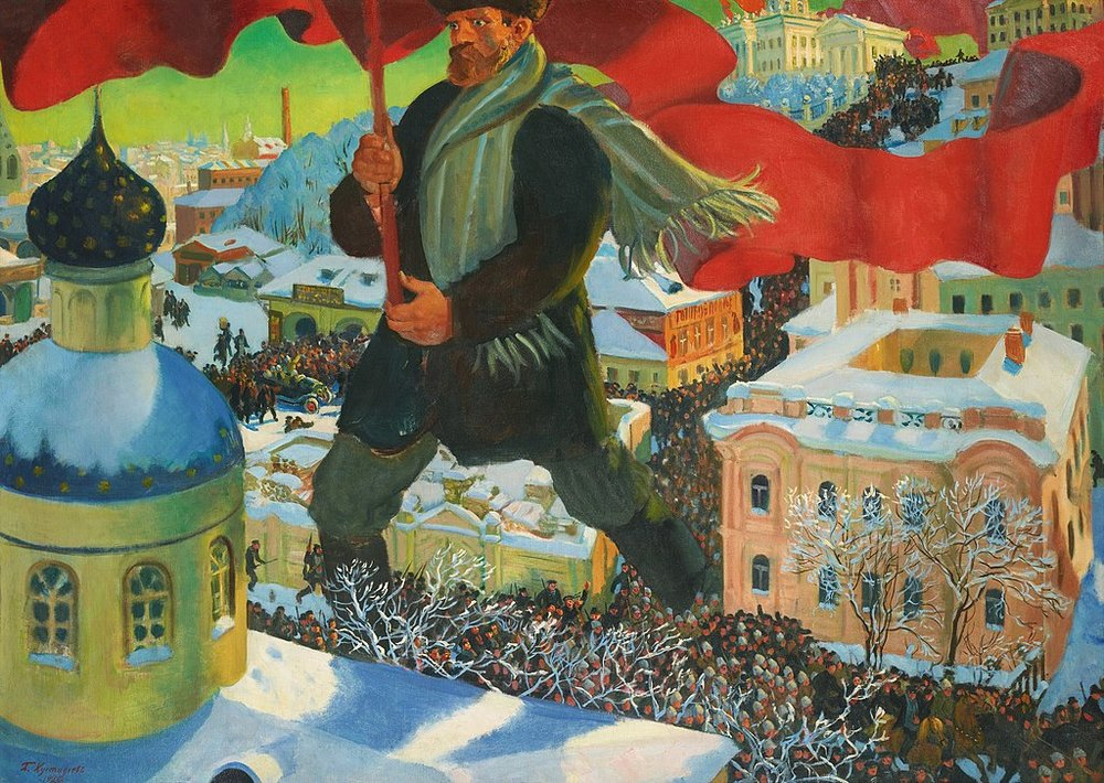 Artistic depiction of the Bolsheviks, ca. 1920.